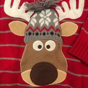 12mo Reindeer Christmas Sweater for Holidays!